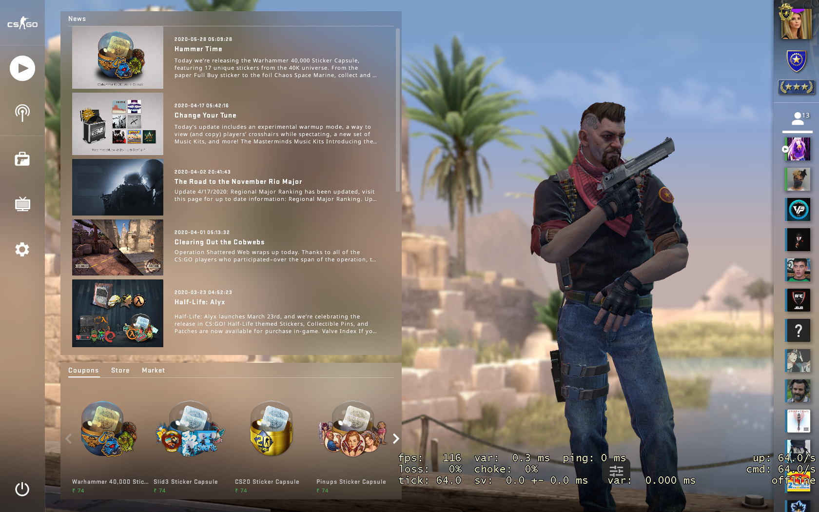 C4 Kill Feed, Improved Grenade Mechanics, Background Selection added In New BIG CSGO UPDATE 4