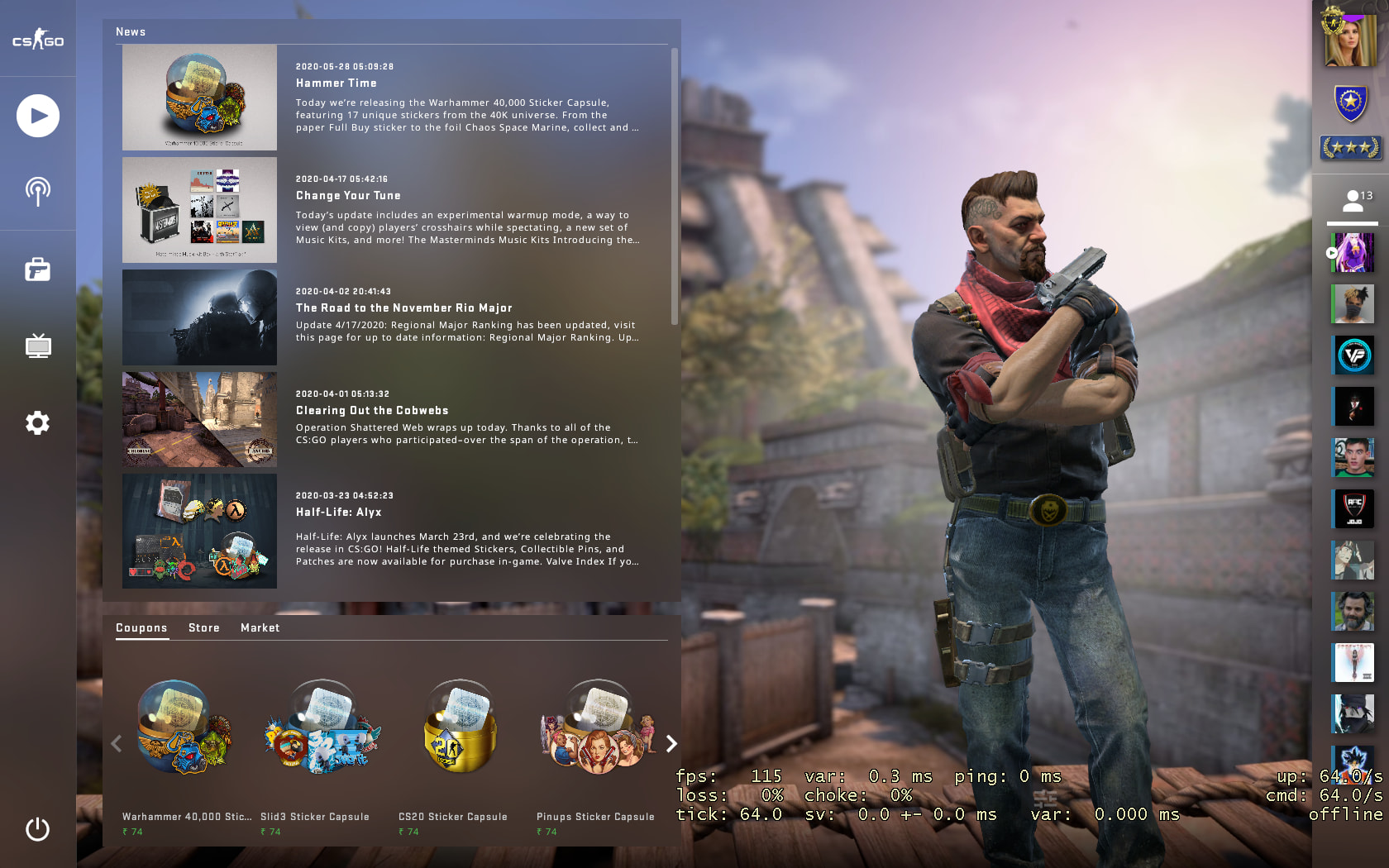 C4 Kill Feed, Improved Grenade Mechanics, Background Selection added In New BIG CSGO UPDATE 6