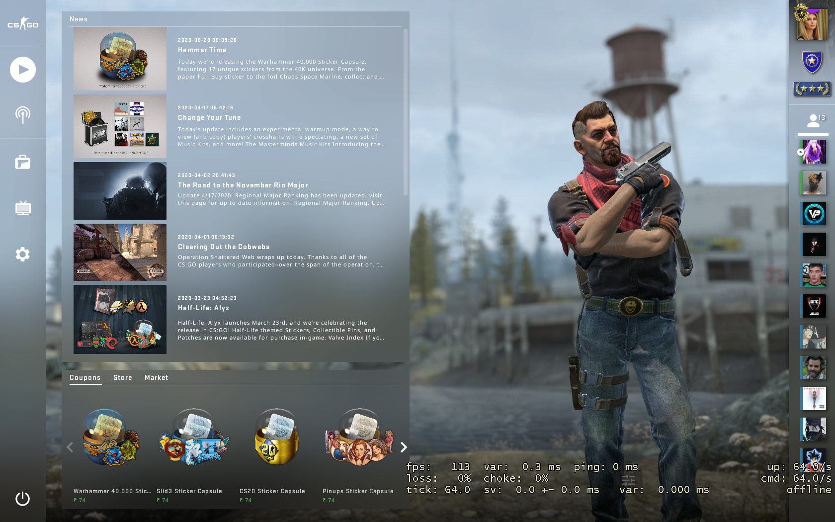 C4 Kill Feed, Improved Grenade Mechanics, Background Selection added In New BIG CSGO UPDATE 5