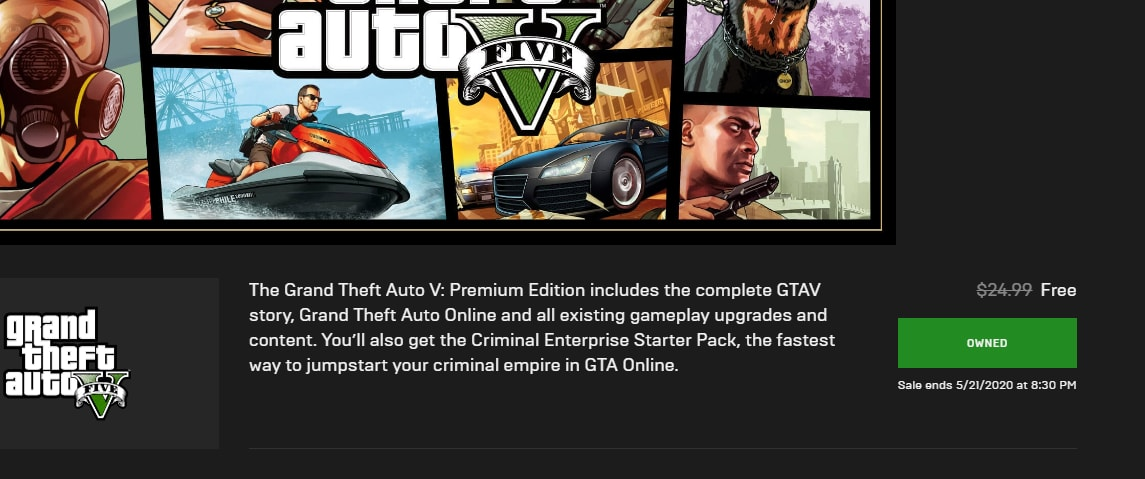 Here's how you can claim a FREE copy of GTA 5 From Epic Games Store! 1