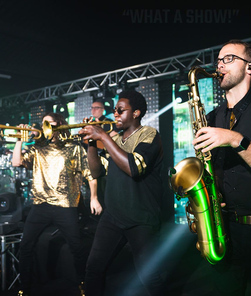 wedding music bands hampshire with horn section