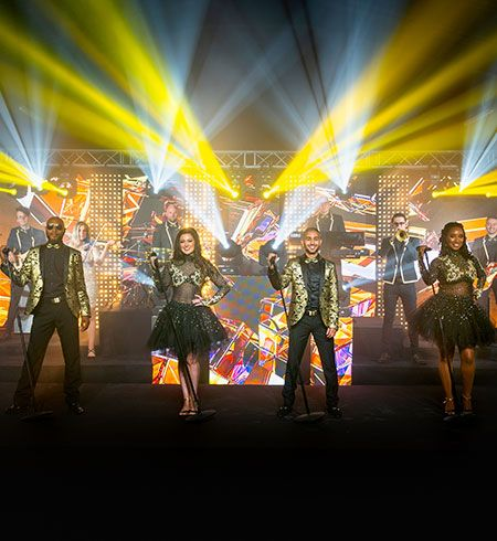 Jam Hot perform with a Bespoke Production package