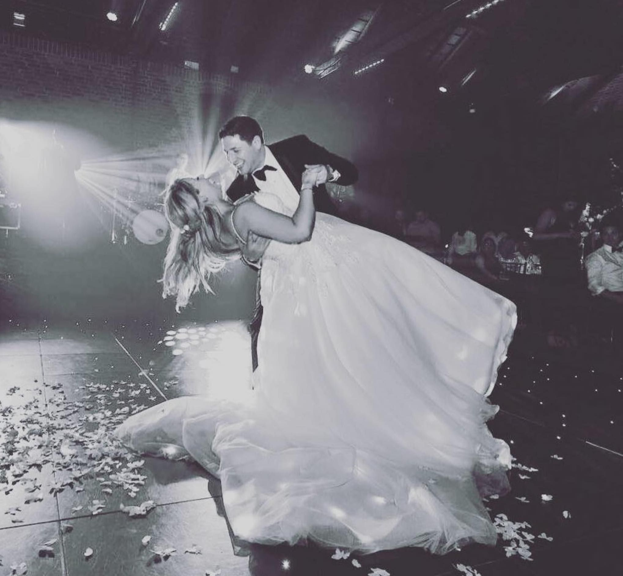 Jam Hot bride and groom perform first dance