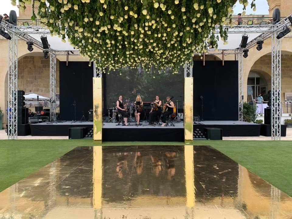 Jam Hot string quartet at a wedding