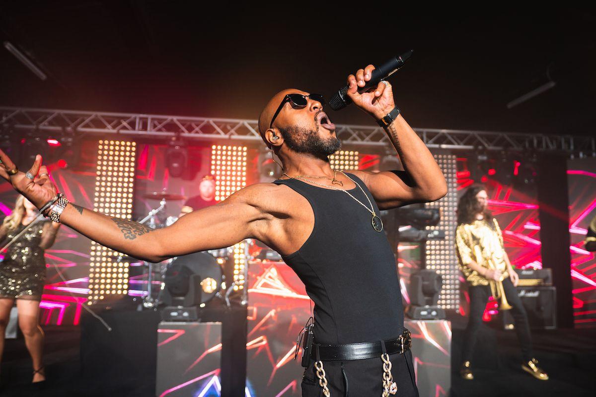 Jam Hot singer performing Sex On Fire