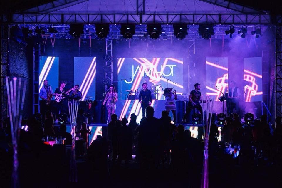 Jam Hot impressive blue stage set up