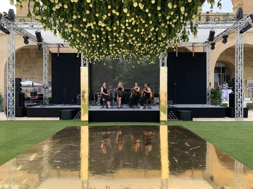 Jam Hot string quartet performs at Wedding drinks
