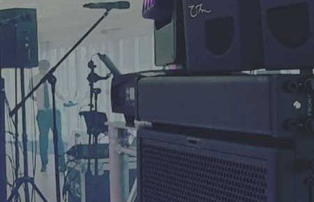 Jam Hot speaker set up for Gold Production package