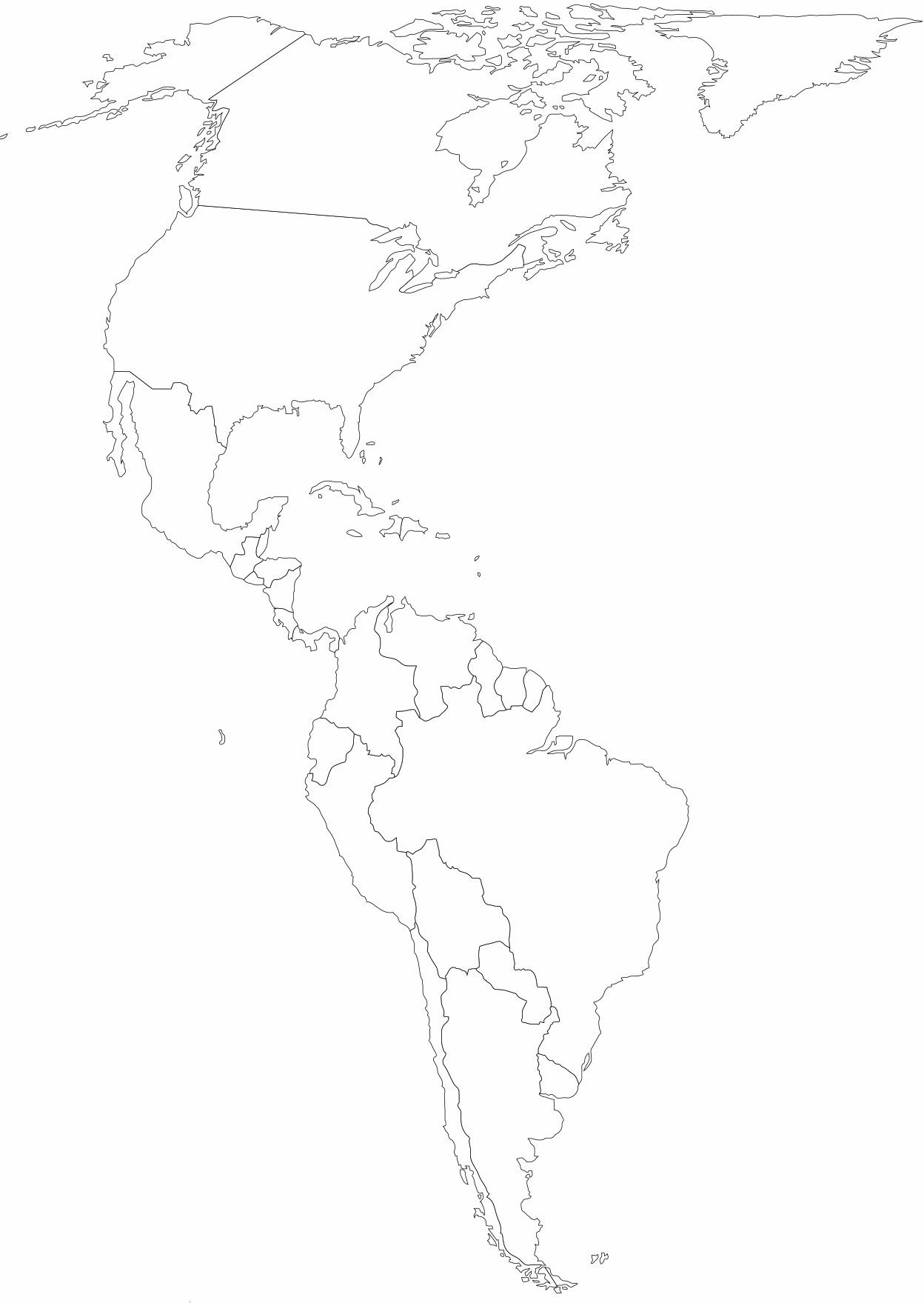 North & South America Map
