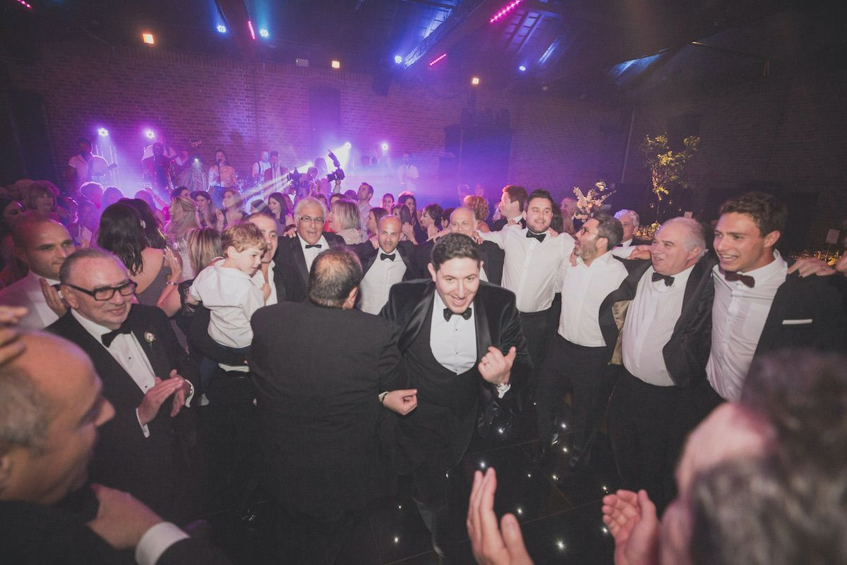 Busy dance floor at a Jam Hot Jewish Wedding