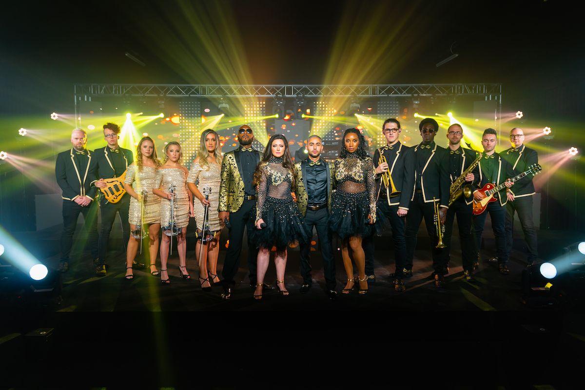 Jam Hot Showband Wedding Dapper Gold Line