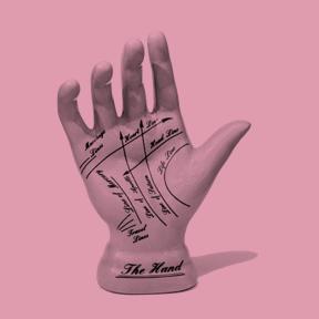 Palmistry hand model
