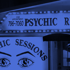 Storefront of a psychic reader
