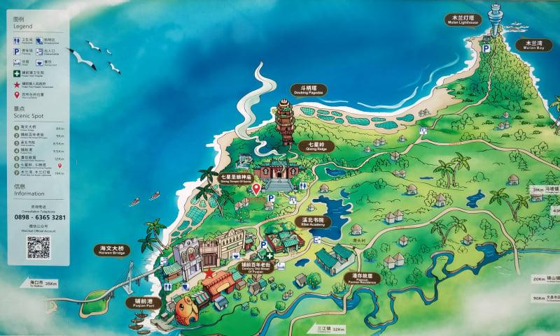 Map of Puqian Area