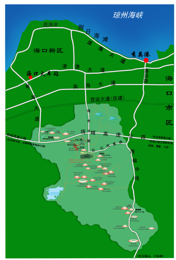 chinese map of volcano park location