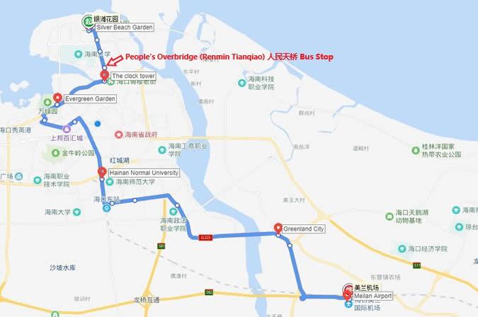 Haikou bus k4 route