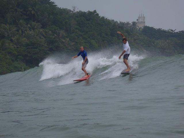 Surfing at Riyue Bay, Hainan