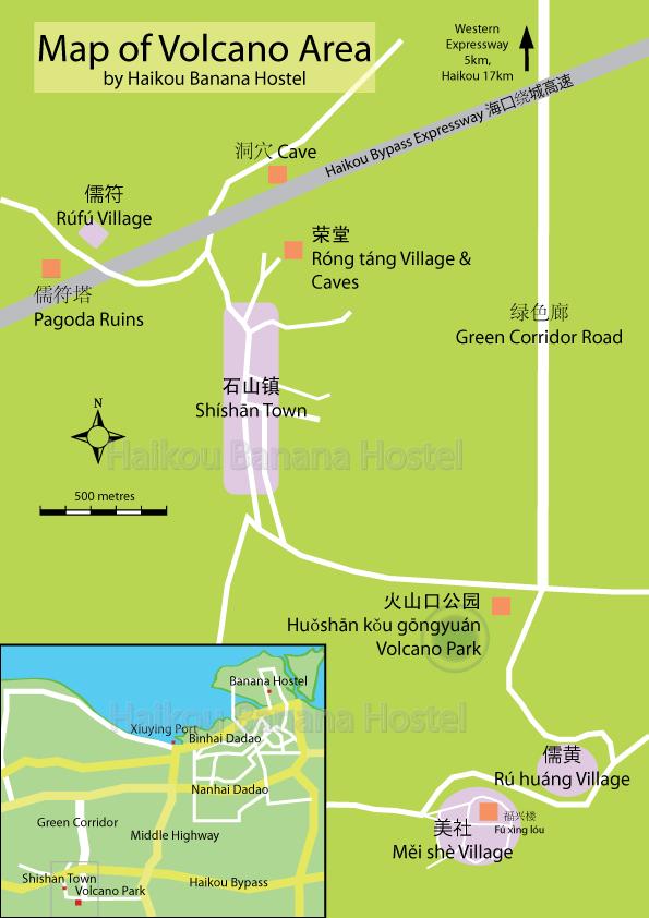 Haikou Volcano map