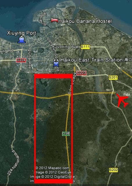 Yangshan cycling area map