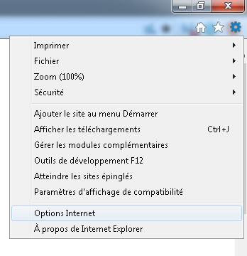 IE - Options Internet