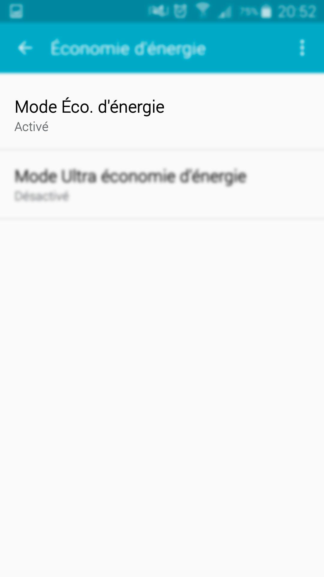 Mode Eco d'énergie