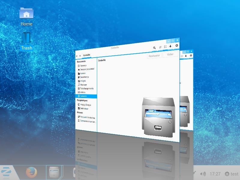 ZorinOS - Basculement entre fenêtres (effet 3D)