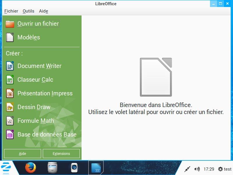 ZorinOS - Suite Libre Office