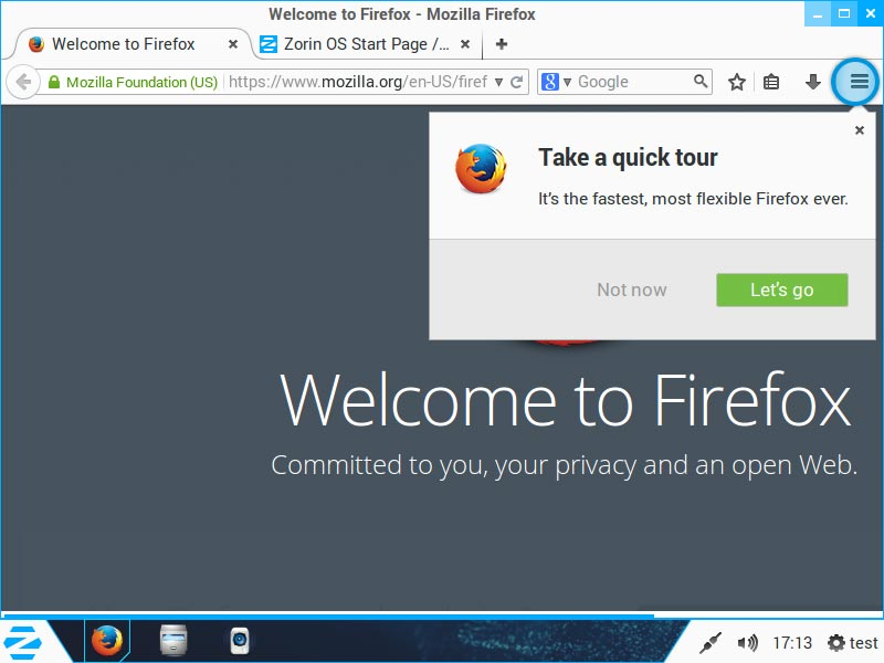 ZorinOS - Internet (Firefox)