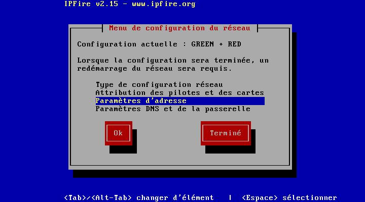 On va définir les adresses IPs