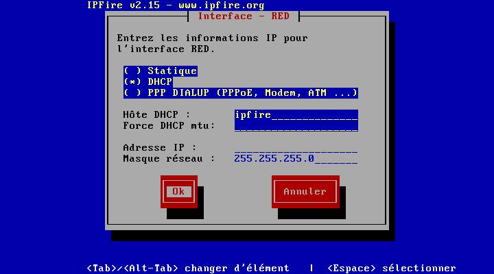 En générale choisir DHCP (IP fourni par votre BOX)
