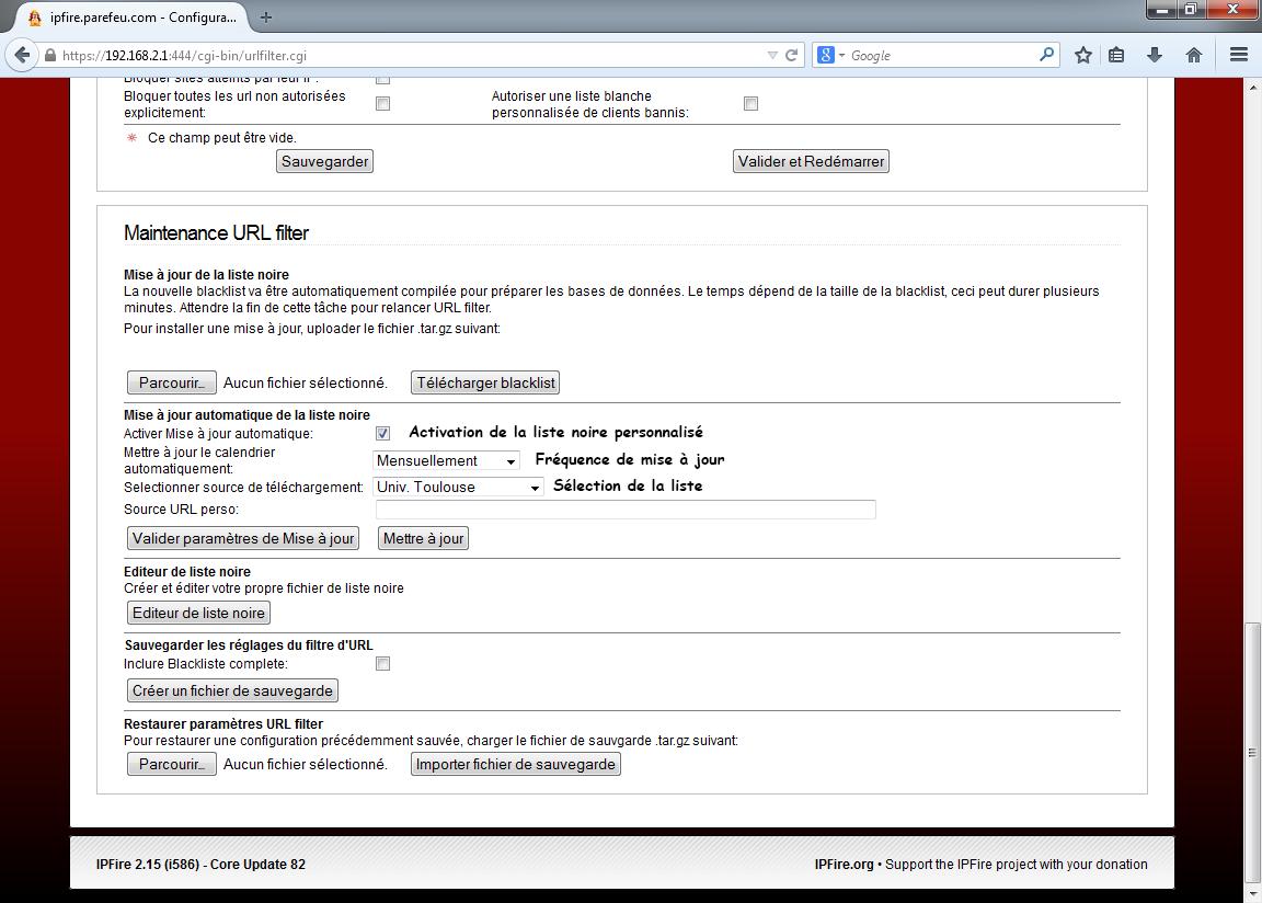 Activer la mise à jour automatique des catégories et choix de la source
