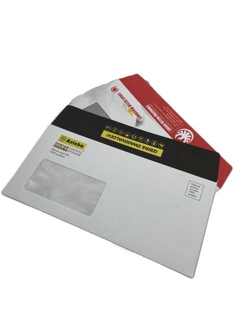 tisk kuvert