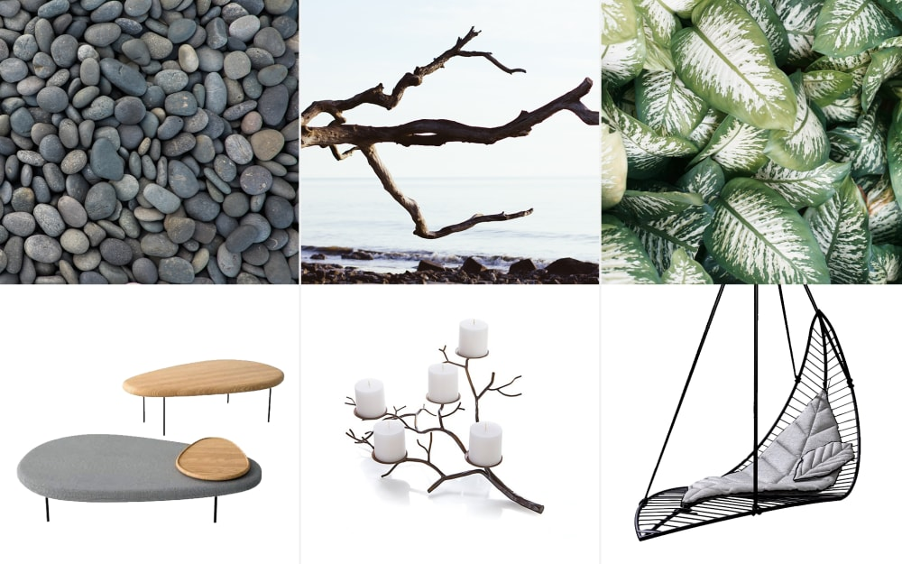 Organic design: natural shapes turned into objects