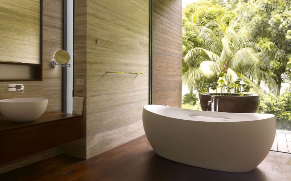 6 steps to a relaxing natural bathroom design