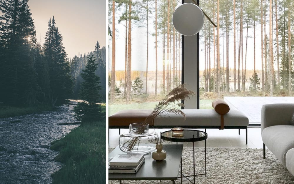 How do interior design, wellbeing and nature relate?