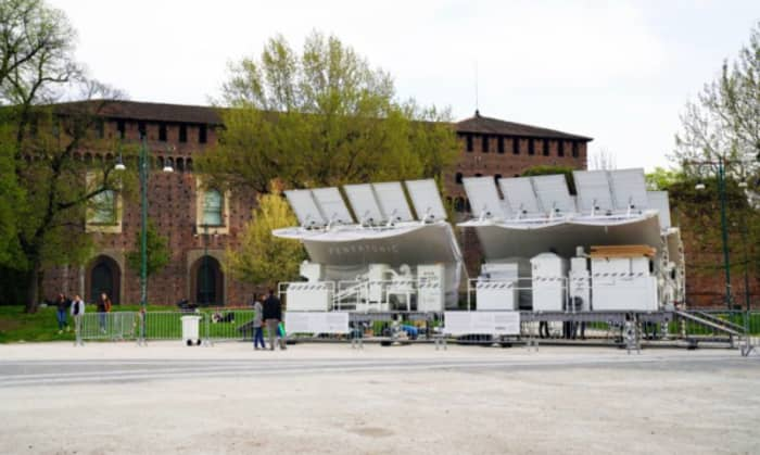 The Trashpresso plant: a movable waste recycling station