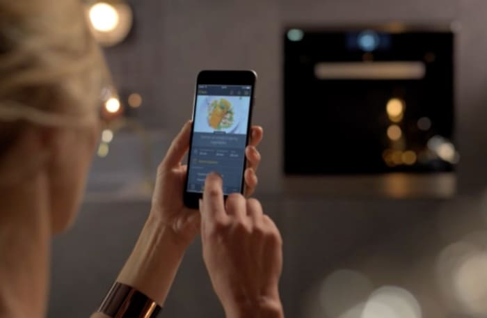 In a smart kitchen, new recipes can be sent via smartphone to smart kitchen appliances.