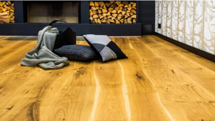 Close-up of a rustic-looking floor by Bolefloor.