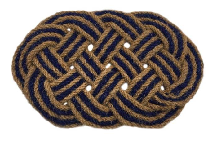 Rope door mat, by Artsy.