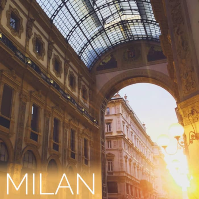 A view of Vittorio Emanuele II Gallery, in the heart of Milan.