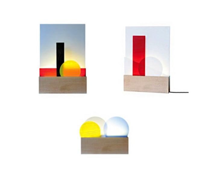 Geometric pop lamp, by l'Atelier d'exercises.