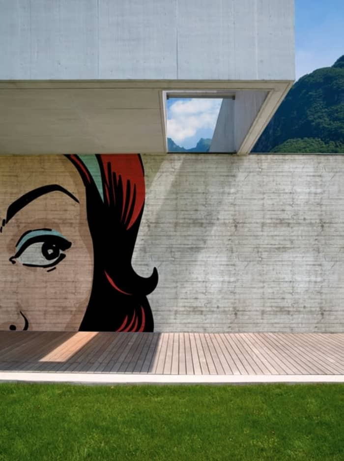 Outdoor wallpaper, by Wall & Déco.