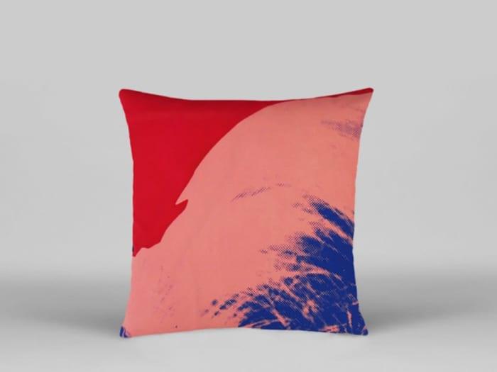 Pop-art inspired cushion, by Henzel Studio.
