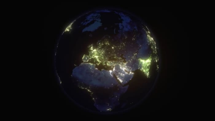 A satellite photo of planet Earth depicting the electricity inequality we experience these days.