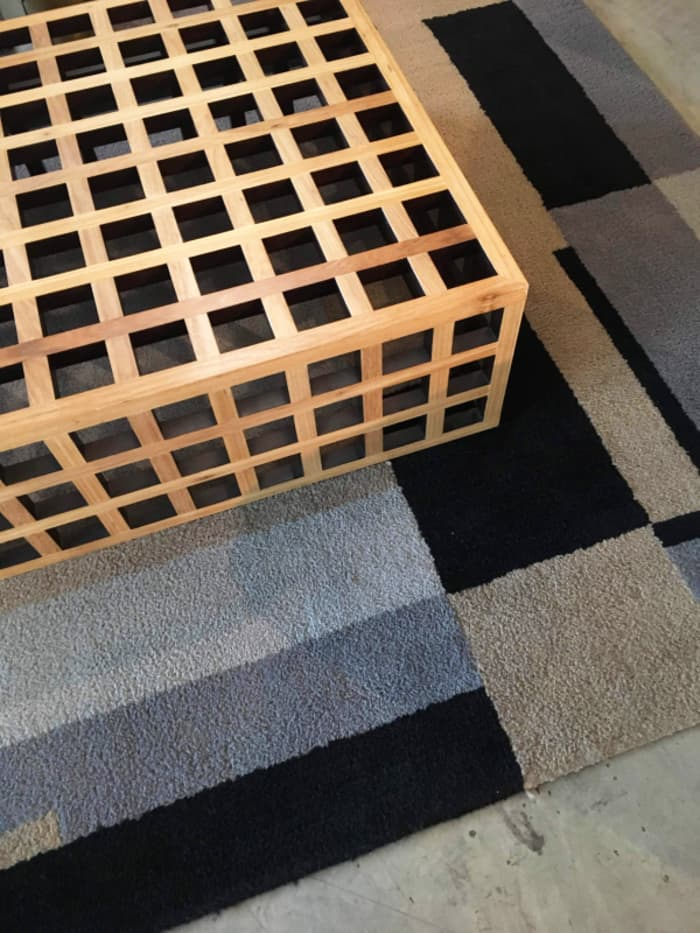 Detail of the coffee table texture