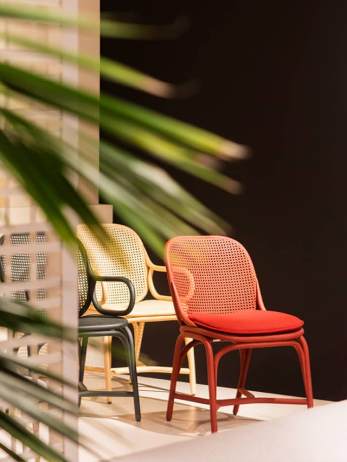 Frames chairs, example of modern Vienna straw design by Jaime Hayon for Expormim.