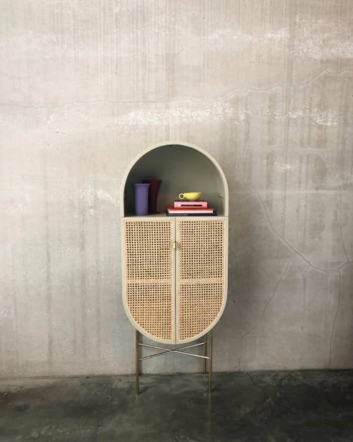 Retro cabinet, example of modern Vienna straw design by HK Living.