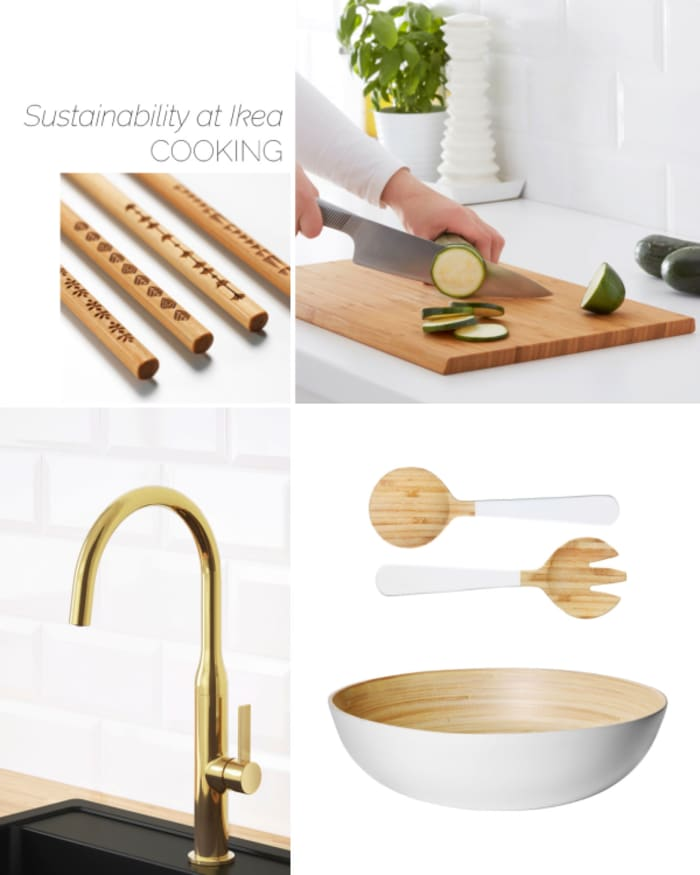 Ikea cooking products helping sustainable living.