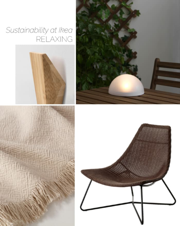 Ikea lounging products helping sustainable living.
