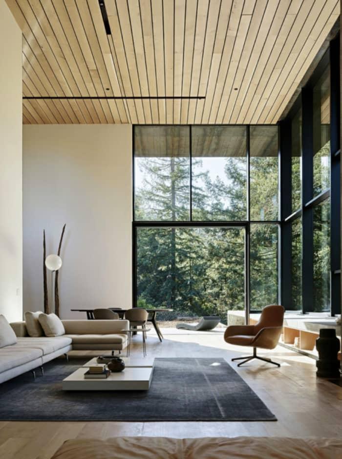 Indoor outdoor living room, great example of biophilic design.